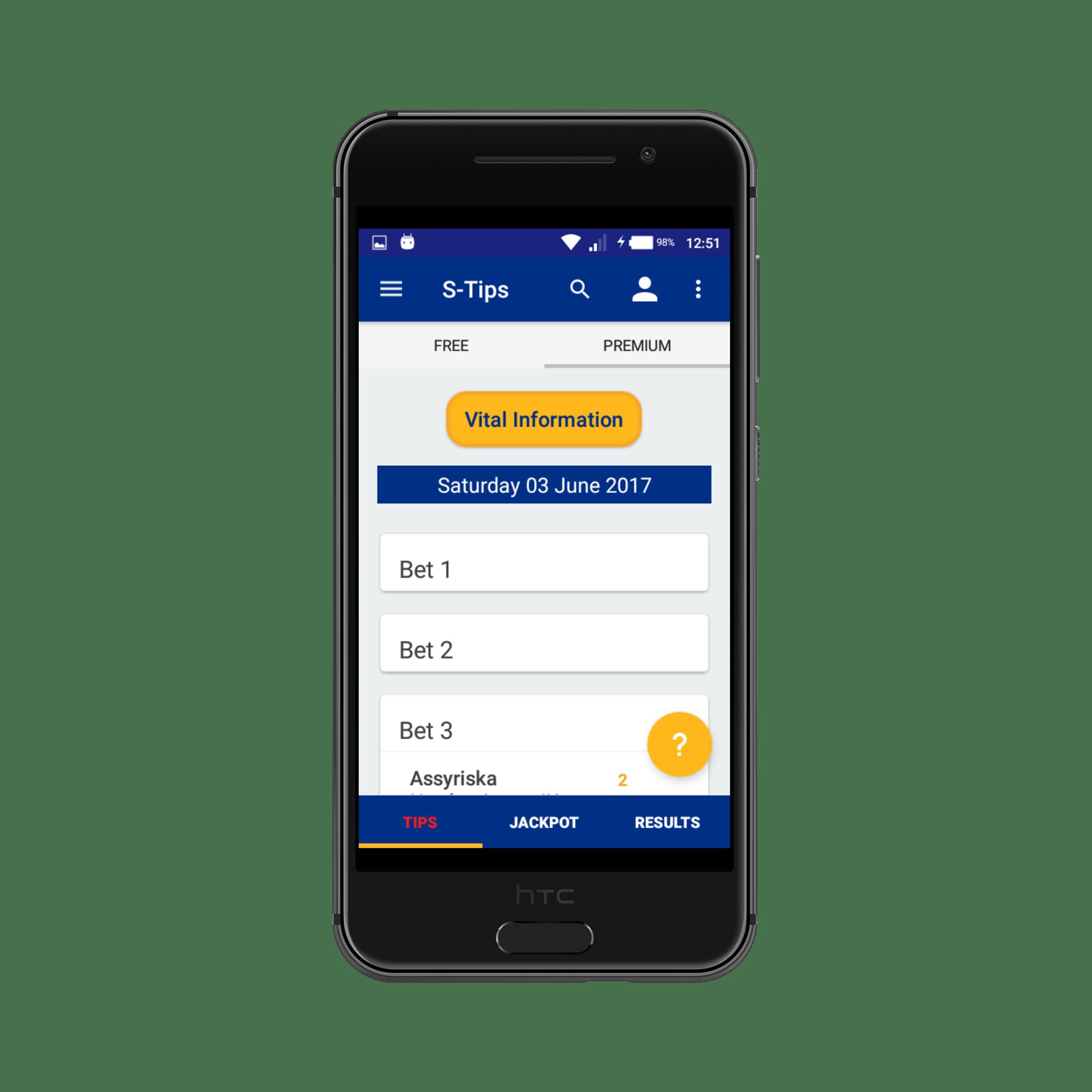 Sportpesatips Android app 3