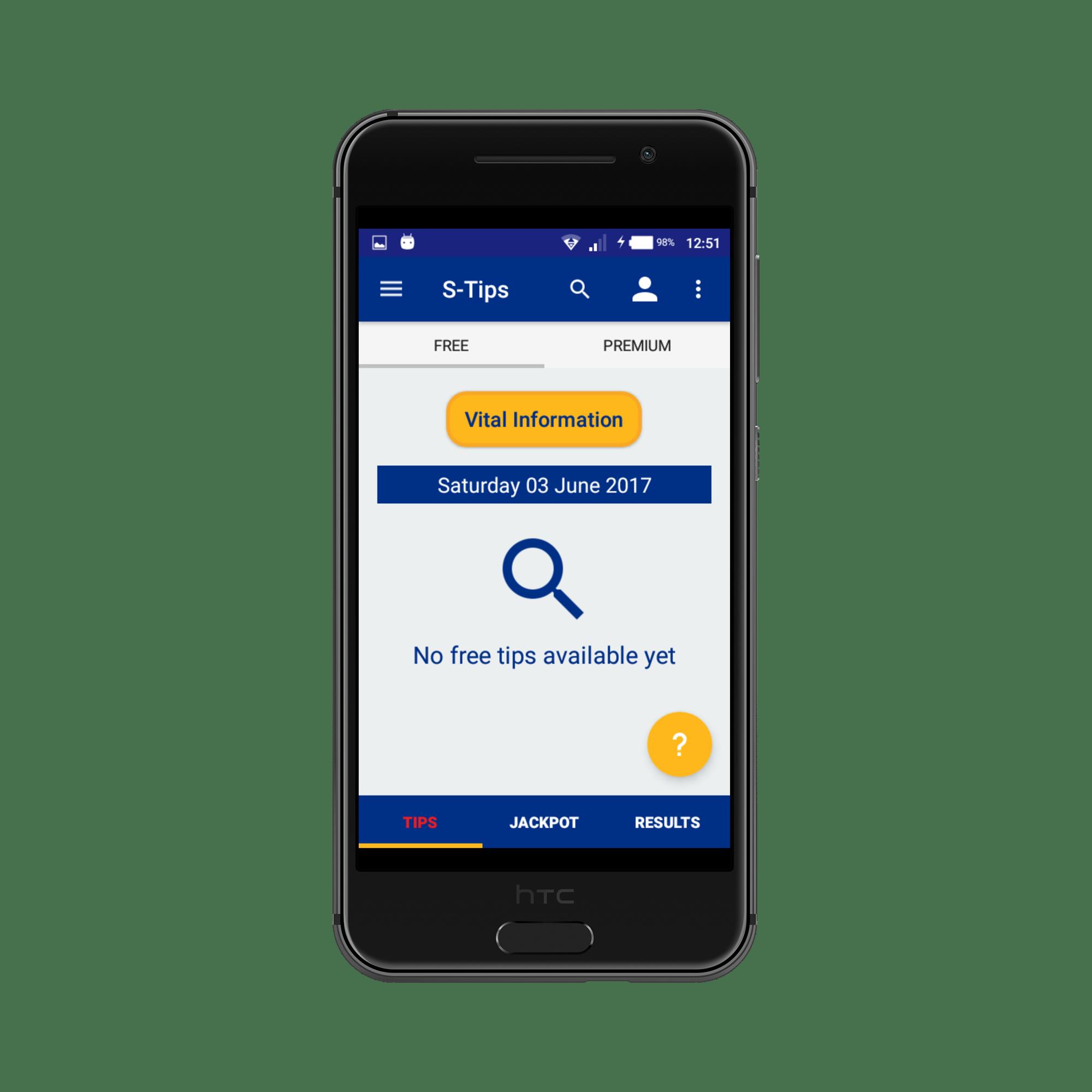 Sportpesatips Android app 4